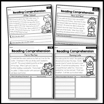 Story Plot Worksheets 4th Grade Free Reading Prehension Passages Story Elements