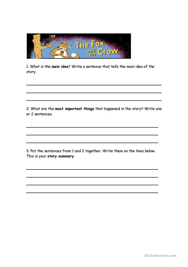 Summarizing Worksheets High School Summarizing Worksheet English Esl Worksheets for Distance