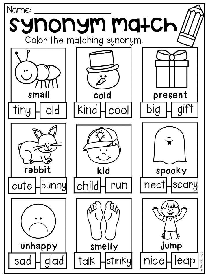 Synonym Worksheets First Grade Grammar Worksheet Packet Pound Words Contractions