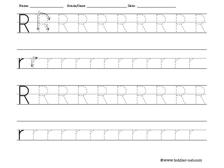 The Letter R Worksheet Free Tracing Letter R Worksheet