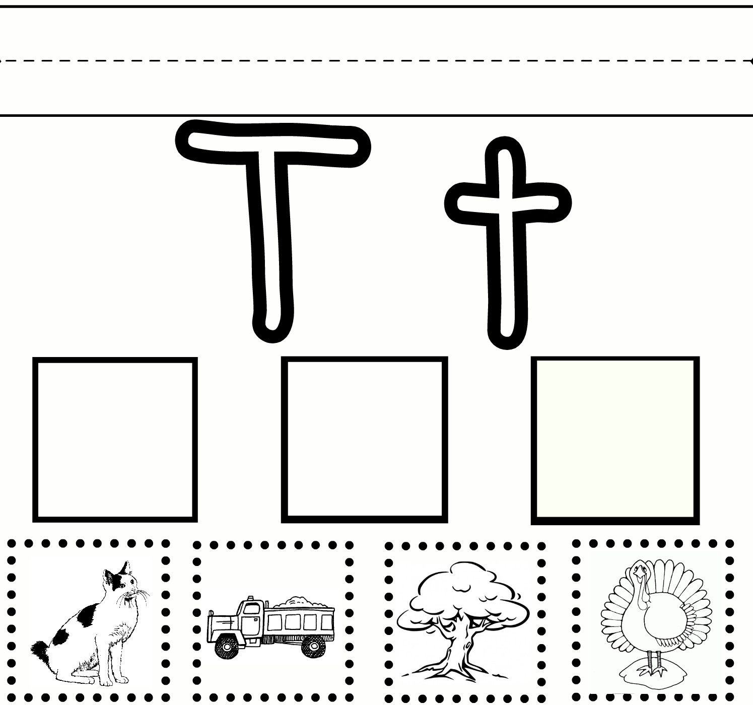 The Letter T Worksheet 5 Best Letter T Printables Printablee