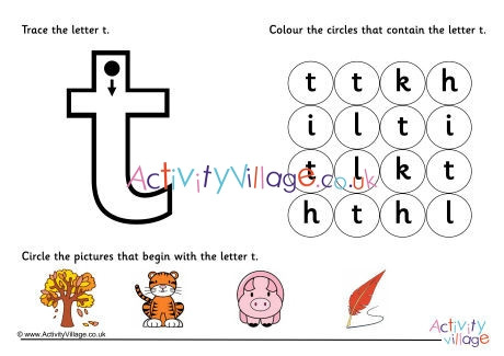 The Letter T Worksheet Alphabet Learn the Letter T Worksheet