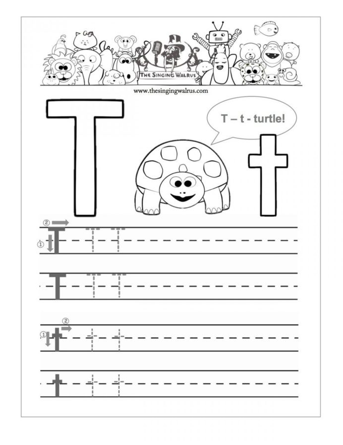 The Letter T Worksheet Learning the Letter Worksheets Kittybabylove Preschool for