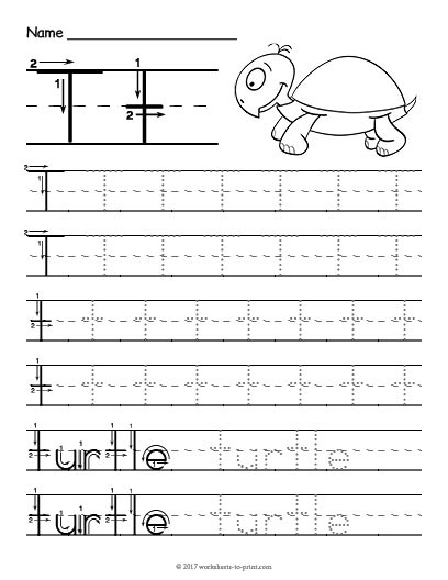 The Letter T Worksheet Tracing Letter T Worksheet