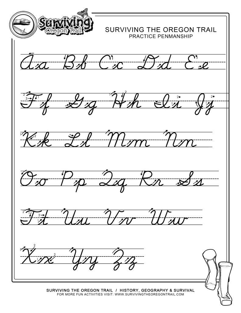 Third Grade Handwriting Worksheets Practice Penmanship – Free Abc S Printable Cursive Writing