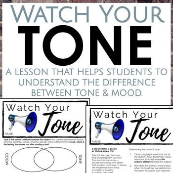 Tone Worksheets High School Distance Learning tone Worksheets for Middle and High School Ela
