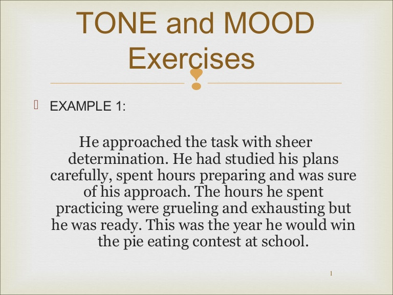 Tone Worksheets High School Mood and tone Practice