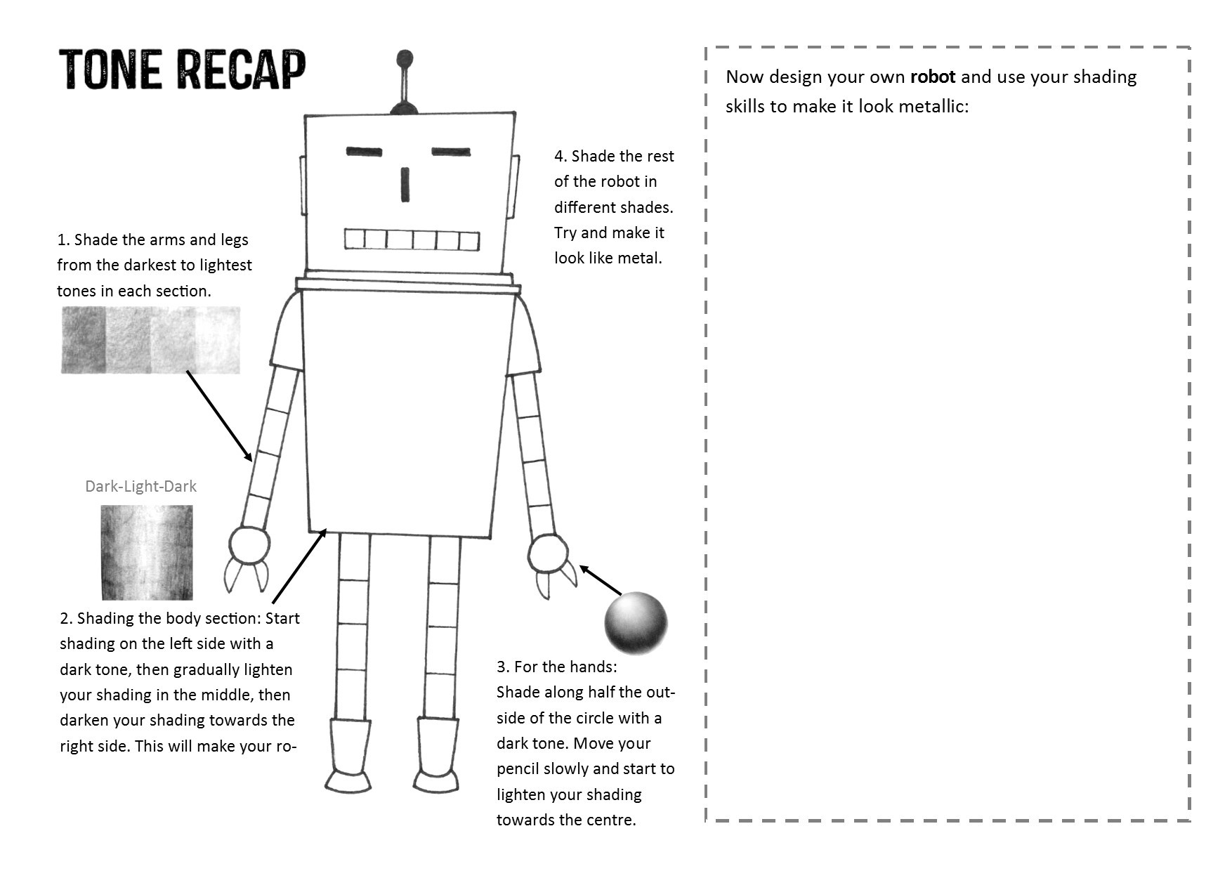 Tone Worksheets High School Robot tone Worksheet