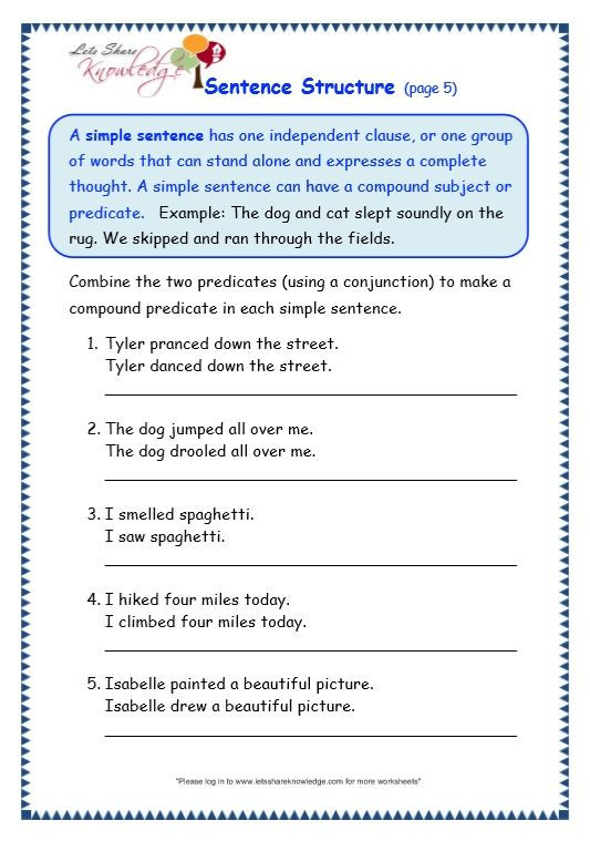 Topic Sentence Worksheets High School Math6 Worksheets Sentences for Grade 3 Multiplication