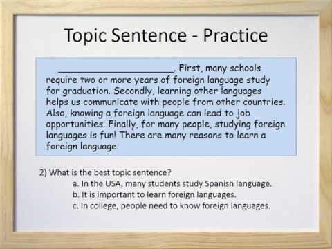Topic Sentence Worksheets High School Paragraphs Part Ii topic Sentences