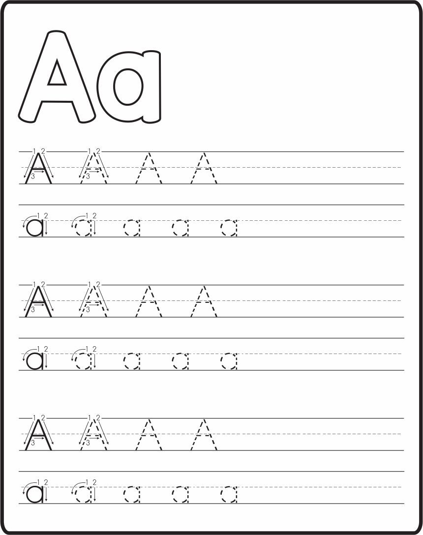Tracing the Alphabet Worksheets 5 Best Free Printable Alphabet Tracing Letters Printablee