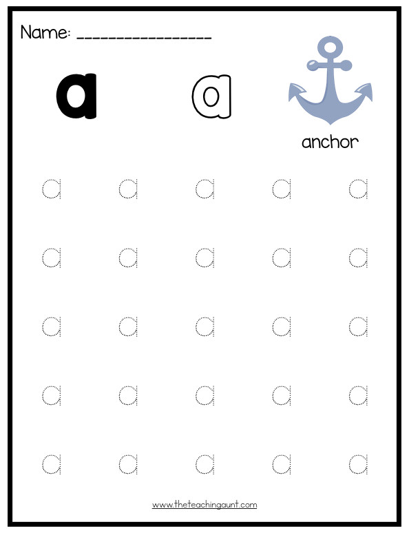 Tracing the Alphabet Worksheets Lowercase Letters Tracing Worksheets Set 1 the Teaching Aunt