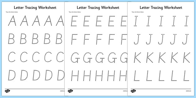 Tracing the Alphabet Worksheets Worksheet Free Letter Tracing Sheets Worksheet for