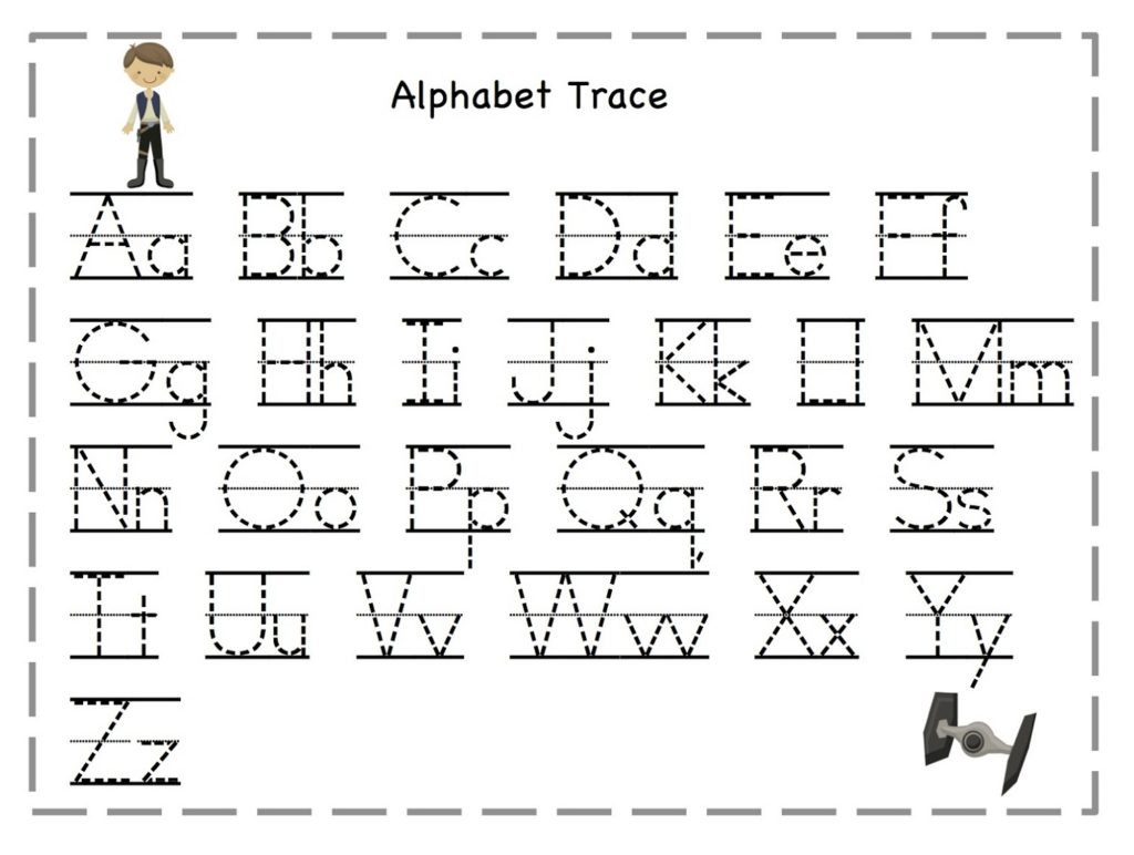 Tracing the Alphabet Worksheets Worksheet Letter Tracing Worksheets Letters for Kids