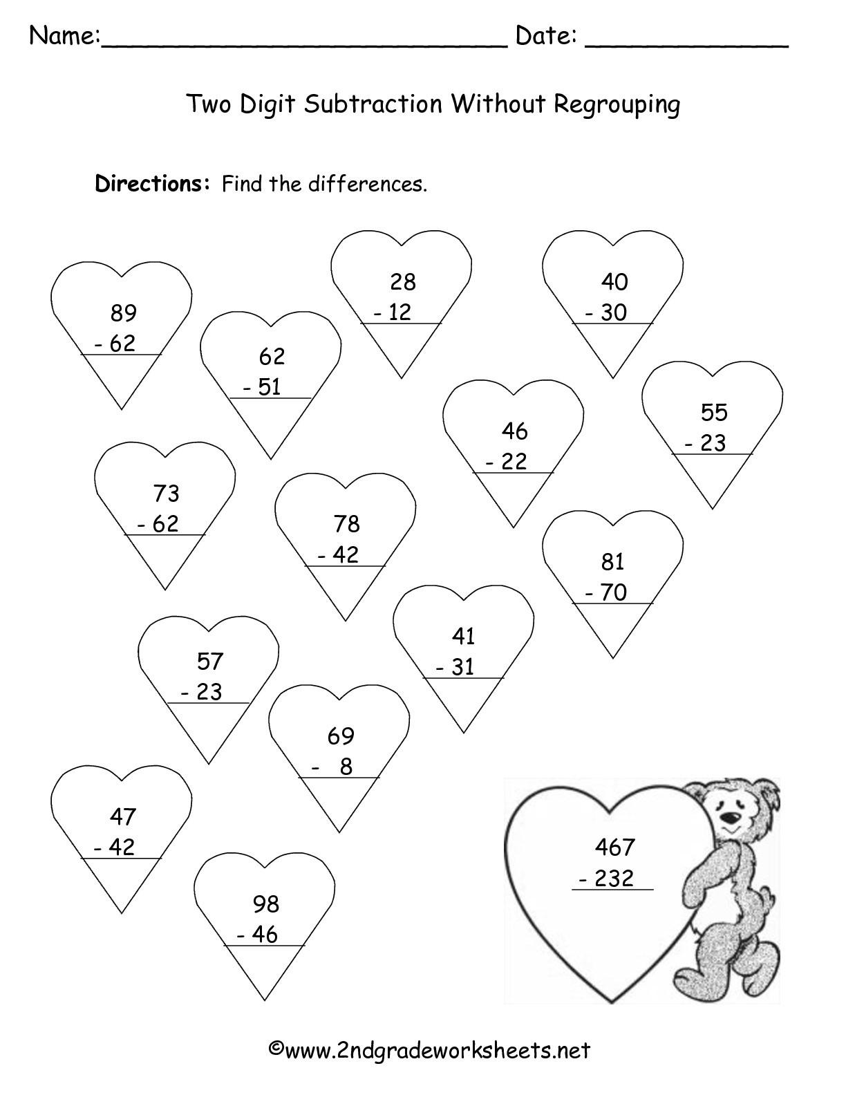 Valentine Day Worksheets First Grade Valentine S Day Printouts and Worksheets