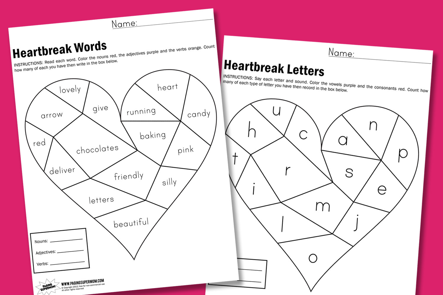 Valentine Day Worksheets First Grade Valentines Archives Page 5 Of 8 Paging Supermom