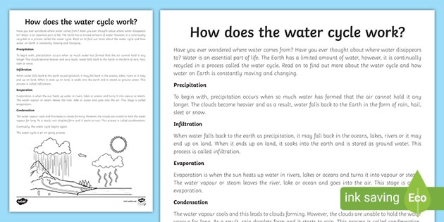 Water Cycle 4th Grade Worksheets the Water Cycle Worksheet How Does the Water Cycle Work