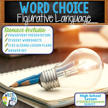 Word Choice Worksheets High School Word Choice Figurative Language Activity Worksheet Google