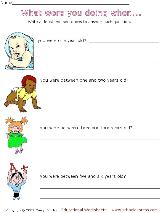 Writing A Complete Sentence Worksheets Sentence Writing Answering Questions In Plete Sentences