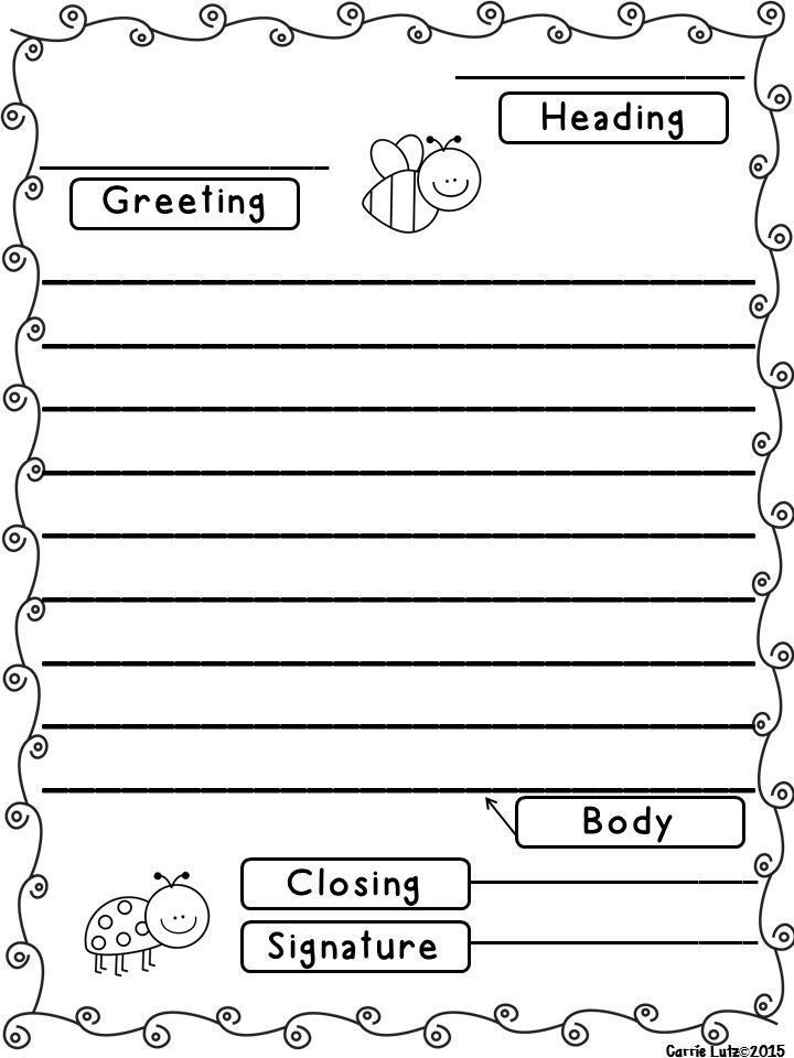 Writing A Friendly Letter Worksheet Friendly Letter Template Pdf Trendy Best 25 Friendly Letter
