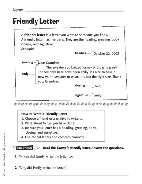 friendly letter k 2nd