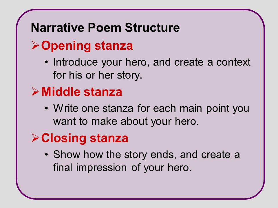 Writing A Narrative Poem Worksheet Things to Write A Narrative Poem About