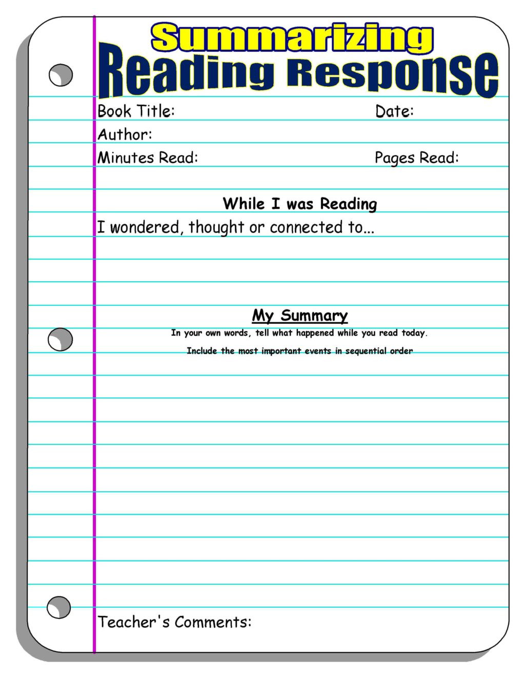 Writing A Summary Worksheet Math Worksheet Reading Response Summarizing Stunning