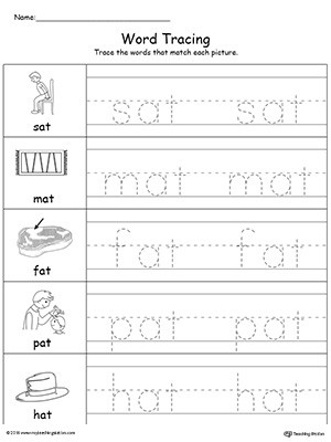 new 983 cvc words tracing worksheets