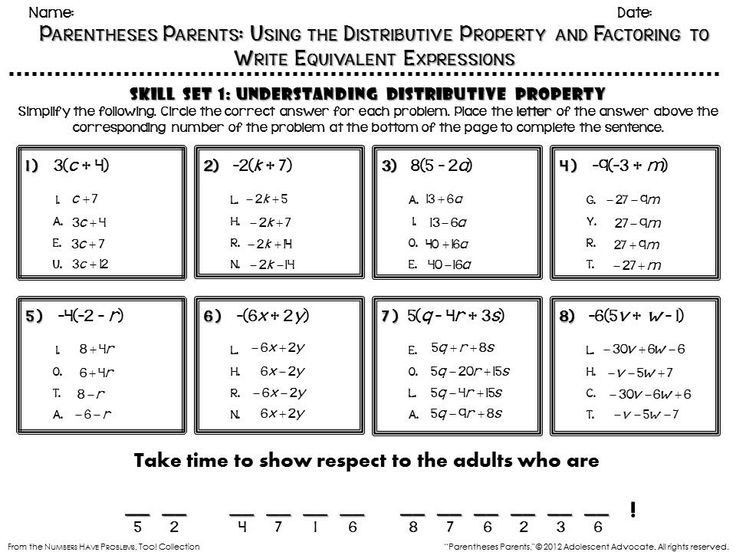 Writing Equivalent Expressions Worksheet Equivalent Expressions Worksheet 7th Grade In 2020