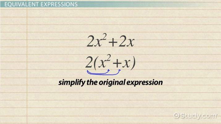 Writing Equivalent Expressions Worksheet Writing Equivalent Expressions Definition & Examples Video
