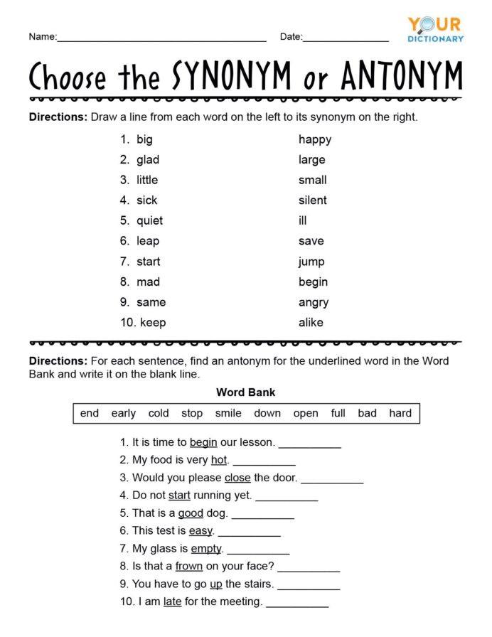 Writing Expressions Worksheet 5th Grade First Grade Synonyms and Antonyms Worksheets Antonym 5th