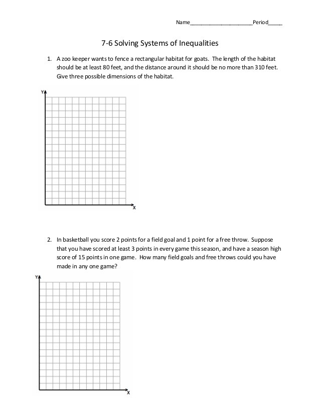 76 systems of inequalities word problems 1 638