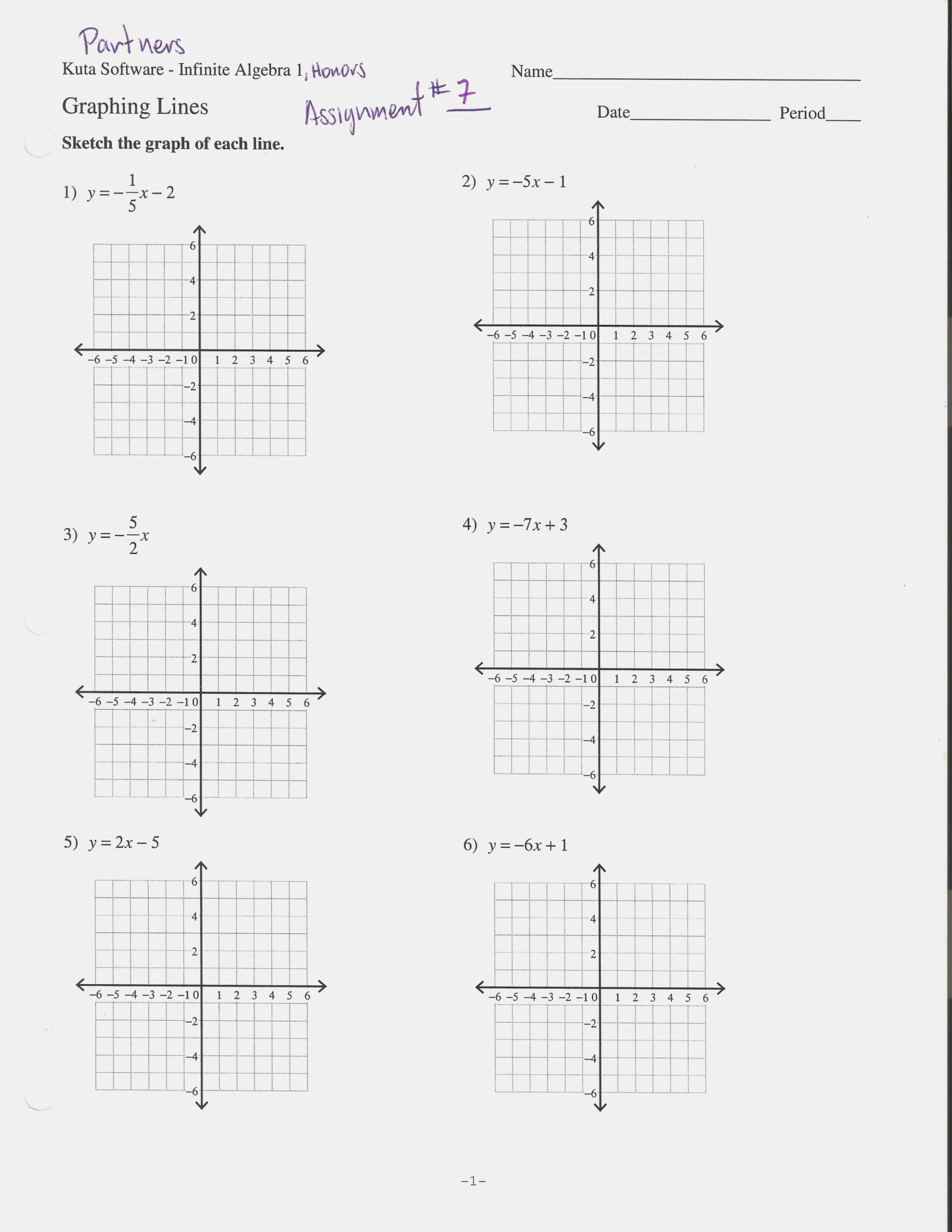 Writing Linear Equations Worksheets Graphing Linear Equations Worksheet