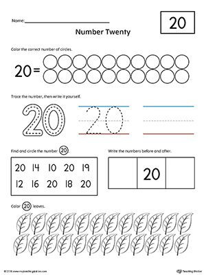 Writing Numbers to 20 Worksheets Number 20 Practice Worksheet