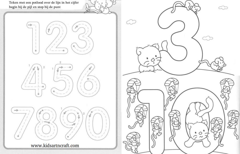 Writing Numbers Worksheet 1 10 1 10 Writing Numbers Worksheets for Preschool and