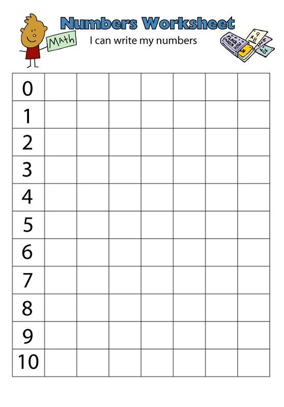 Writing Numbers Worksheet 1 10 Number 1 10 Worksheets Printable