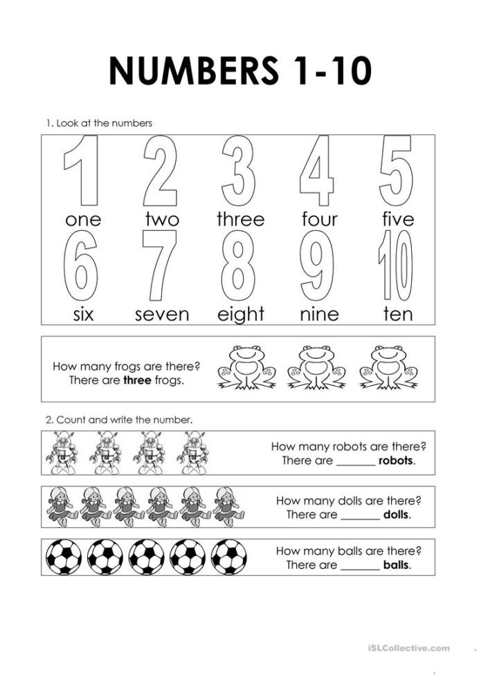 Writing Numbers Worksheet 1 10 Numbers English Esl Worksheets for Distance Learning and
