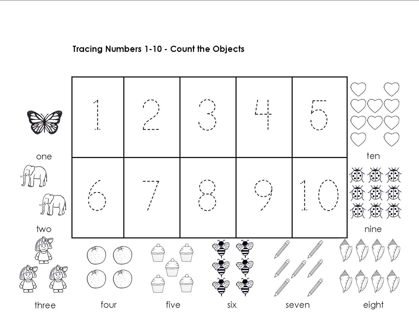 Writing Numbers Worksheet 1 10 Tracing Numbers 1 10 Worksheets