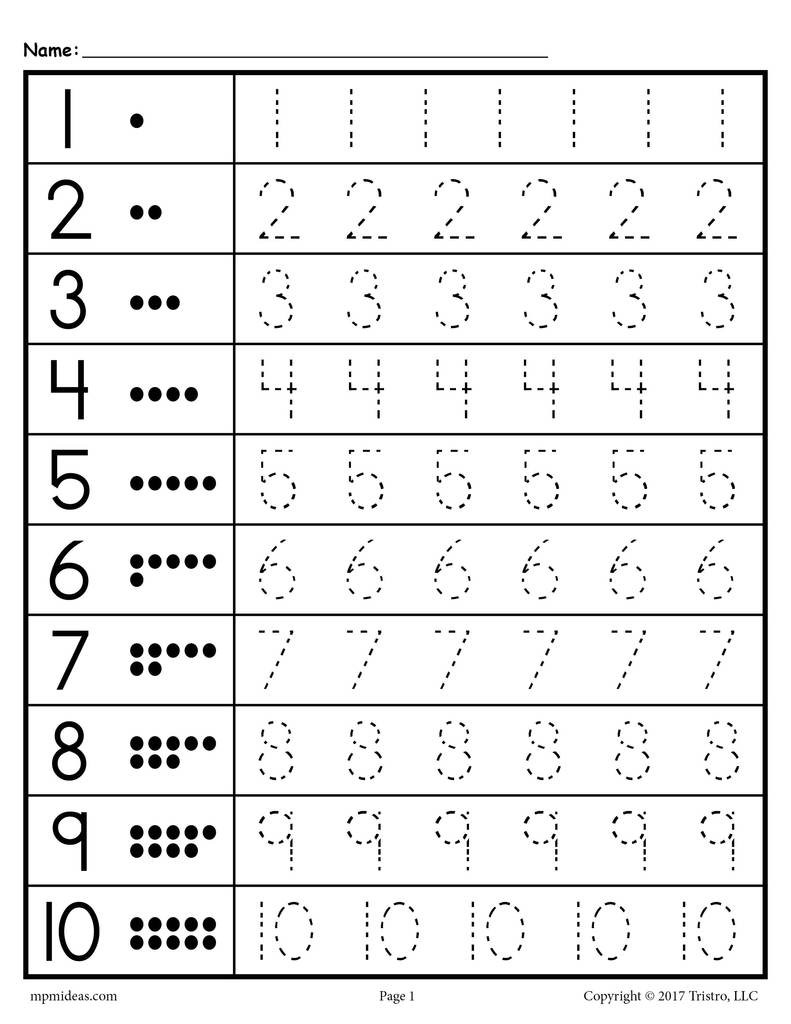 Writing Numbers Worksheet 1 10 Tracing Worksheets Numbers 1 20 – Supplyme