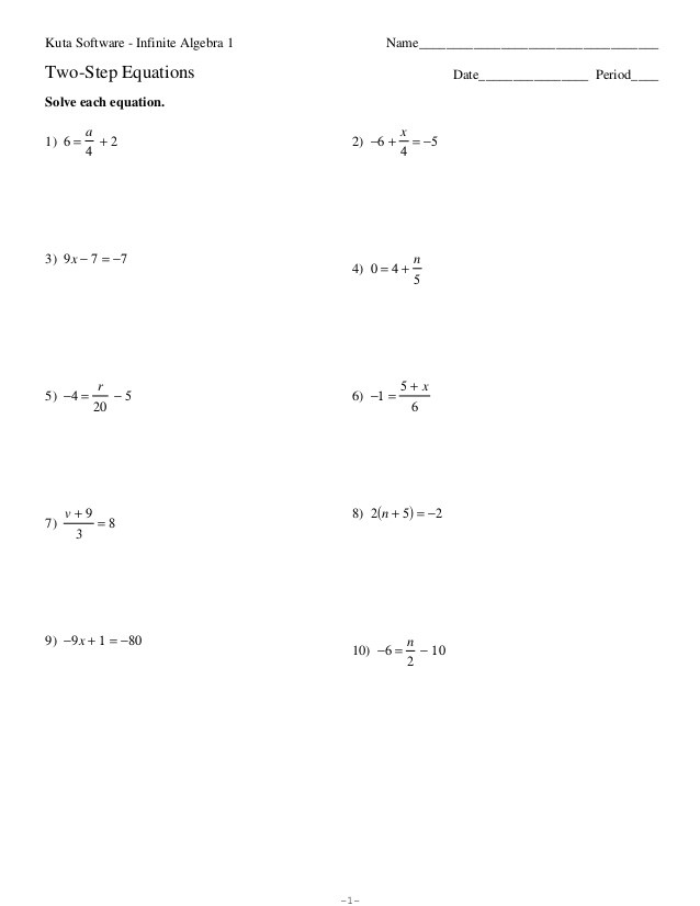 Writing One Step Equations Worksheet 35 2 Step Equations Worksheet Pdf Worksheet Resource Plans
