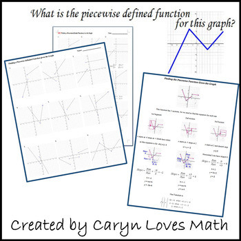 Writing Piecewise Functions Worksheet Finding the Equations for the Graph Of A Piecewise Defined Function Worksheet