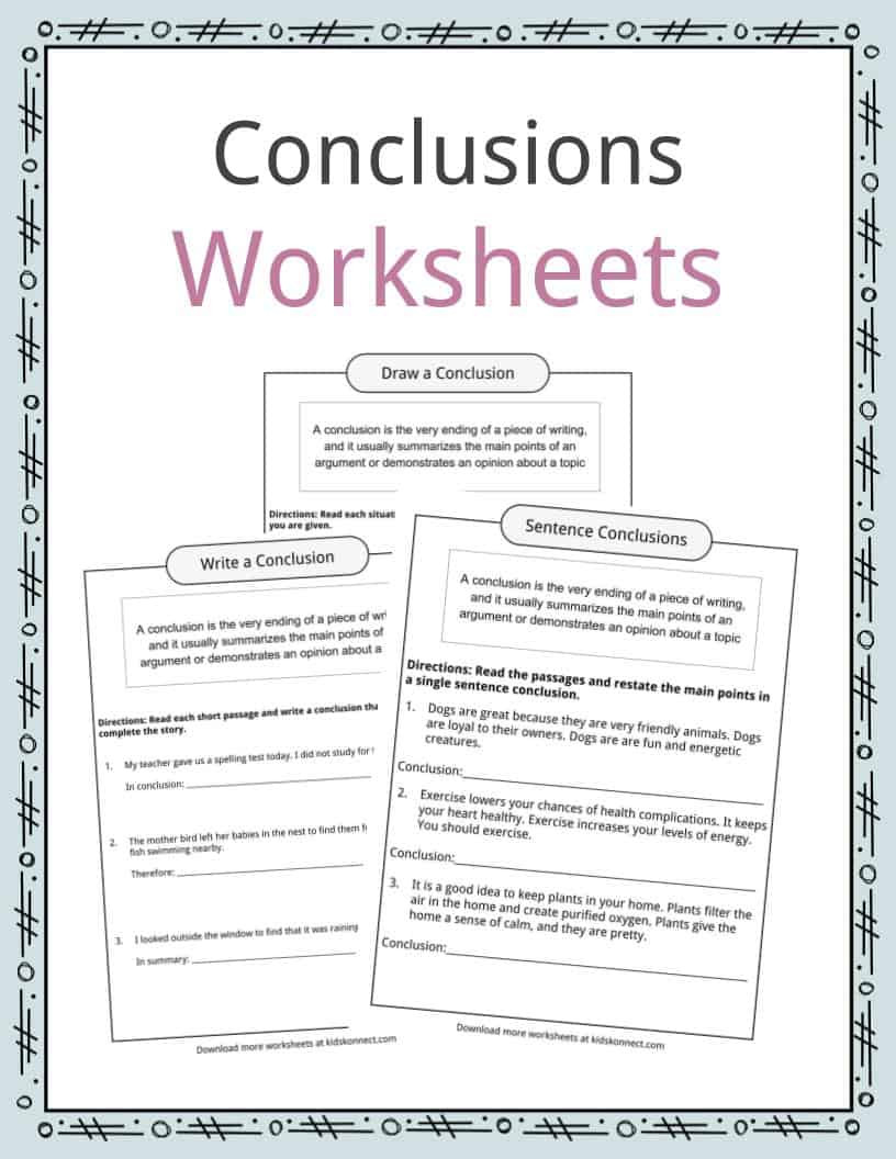Writing Story Endings Worksheet Conclusion Worksheets Examples Definition & Meaning for Kids