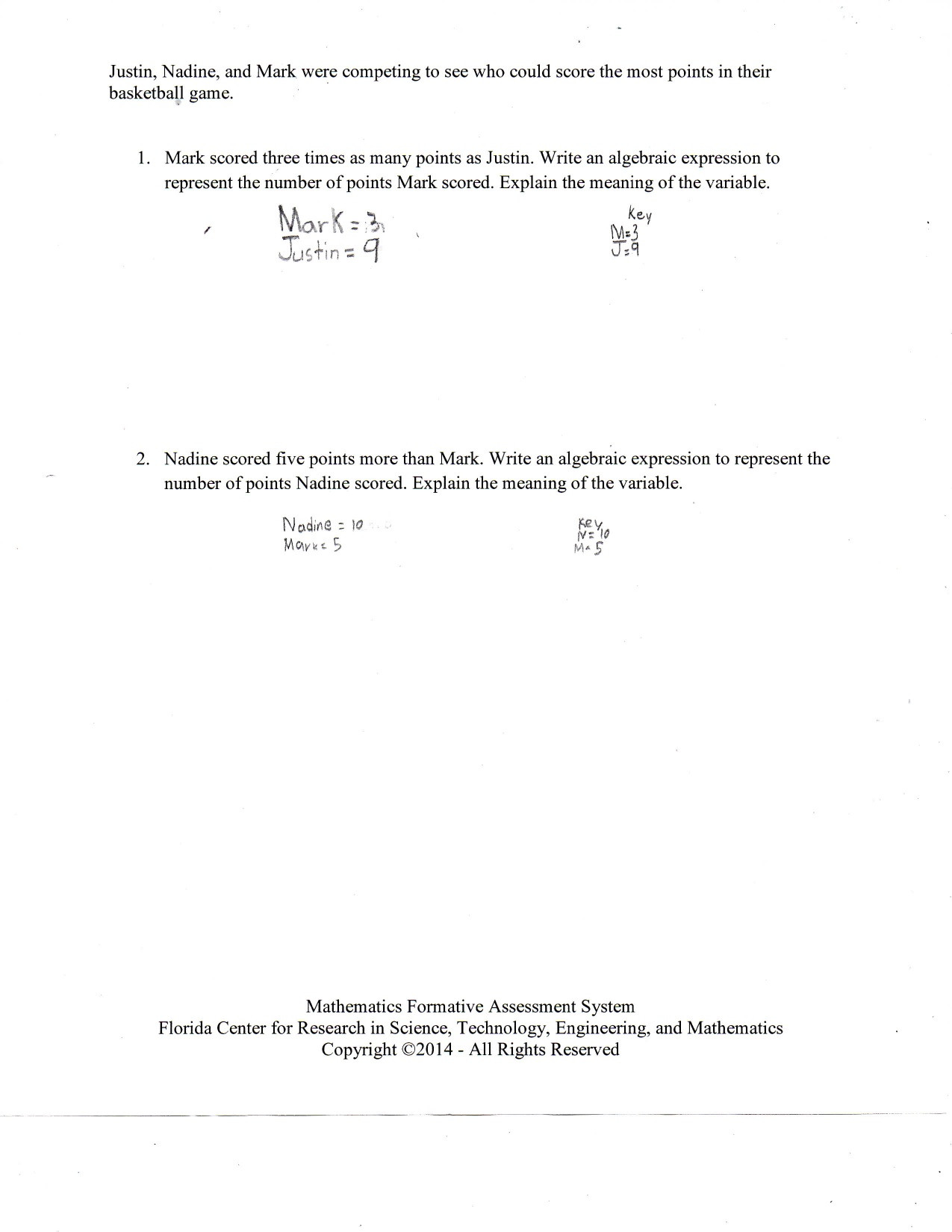 Writing Variable Expressions Worksheets Interpreting Expressions Worksheet Answer Key