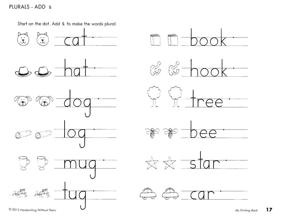 Writing without Tears Worksheets Handwriting without Tears Grade 1 Kit