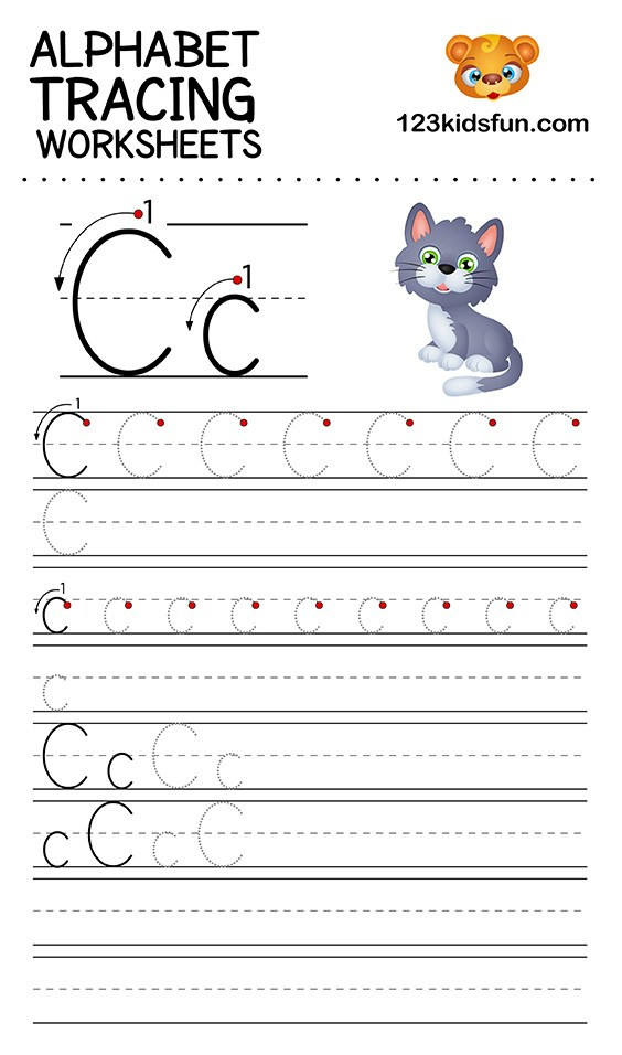alphabet tracing worksheets a z free printable for kids 123 39
