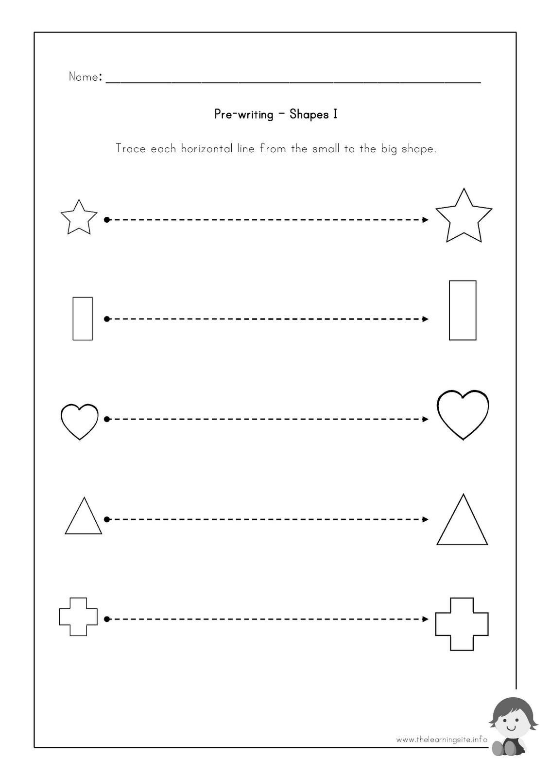 pre writing worksheets to educations free for preschoolers printable